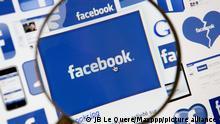 © JB Le Quere / Maxppp. Paris, 11 Juin 2012. Illustration logo et page facebook. 11 Juin 2012