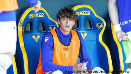 Lazio's Romano Floriani Mussolini on the bench