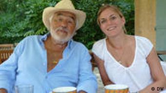 Mario Adorf und Donata Ritter am Tisch (Foto: Donata Ritter)