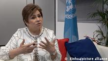 (191211) -- MADRID, Dec. 11, 2019 (Xinhua) -- Patricia Espinosa, executive secretary of the United Nations Framework Convention on Climate Change (UNFCCC), speaks during an interview with Xinhua in Madrid, Spain, Dec. 7, 2019. It is important to evaluate the commitments for supporting developing countries agreed in various climate conferences before the Paris Agreement, says UN climate chief Patricia Espinosa during the UN Climate Change Conference COP25 in Spain. TO GO WITH Interview: Commitments made to earlier agreements need to be evaluated, says UN climate chief (Xinhua)