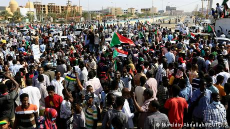 Demonstrators protest against possible military rule in Khartoum in a file photo. REUTERS/Mohamed Nureldin Abdallah/File Photo
