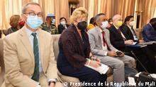 Besuch in Bamako am Sonntag, 24. Oktober 2021, einer Delegation des UN-Sicherheitsrats ein. Sie wurde vom Präsidenten des Übergangs, Assimi Goïta