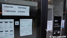 Beide hat unser Korrespondent Igor Lasic gemacht. Auf den Fotos: Zentrale von Uber - es handelt sich um den Anbieter von Taxi-Diensten in Kroatien, Zagreb via Andrea Grimm