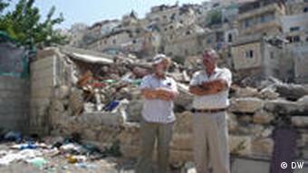 Rabbi Yehiel Grenimann und Fakhri Abu Diab (Foto: DW/ Daniel Pelz)