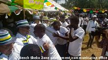 Community reconciliation held in Gura Ferda Woreda of SNNPR region Wo- Gura Ferda, Ethiopia Wann- 24.10. 2021 Copy Right- Bench Sheko Zone government communication office PS- (DW correspondent in Hawassa get the permission to use the pictures from local authorities.)