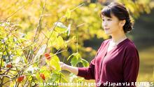 26.10.2021, Tokyo, Japan, FILE PHOTO: Japan's Princess Mako, the eldest daughter of Crown Prince Akishino and Crown Princess Kiko, strolls at the garden of their Akasaka imperial property residence in Tokyo, Japan October 6, 2021, ahead of her 30th birthday on October 23, 2021 and her marriage on October 26, 2021, in this handout photo provided by the Imperial Household Agency of Japan. Picture taken October 6, 2021. Mandatory credit Imperial Household Agency of Japan/Handout via REUTERS THIS IMAGE HAS BEEN SUPPLIED BY A THIRD PARTY. MANDATORY CREDIT./File Photo