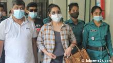 Bangladeshi actress Porimoni outside the court in Dhaka, Bangladesh --- The pictures have been sent to us by our content partner BDNEWS24.com in Bangladesh. --- ***Nur für die abgesprochene Berichterstattung zu nutzen***