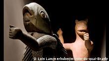 26.10.2021, Benin-Ausstellung im Musée du Quai Branly in Paris, Koenigliche-Statuen-aus-Dahomey