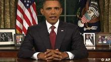 In this image from video, President Barack Obama speaks from the Oval Office at the White House on Tuesday, Aug. 31, 2010, about the end of the U.S. combat role in Iraq. (AP Photo/APTN)