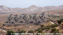 A view of Jewish housing in the Ma'aleh Adumim settlement, annexed to the controversial E1 area in the West Bank, outside Jerusalem, on Saturday, October 16, 2021. Israel is quietly moving ahead with plans to build new Israeli settlements in areas around Jerusalem disregarding objections by the Biden administration, the international community and the Palestinians. Photo by Debbie Hill/UPI Photo via Newscom picture alliance