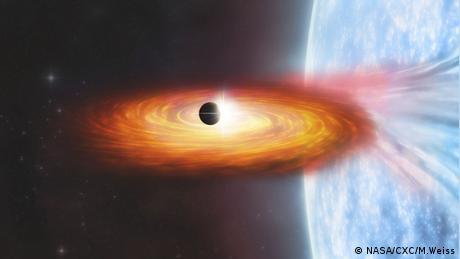 Ilustración de un exoplaneta en la galaxia M51.