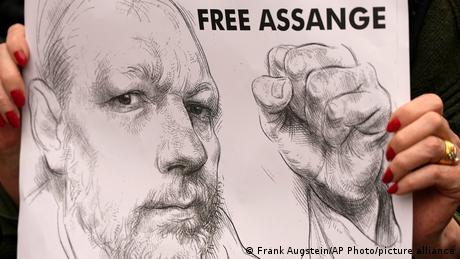 UK Prozess Julian Assange Protest