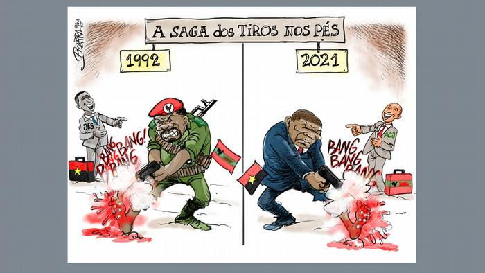 Angola Cartoon UNITA und MPLA