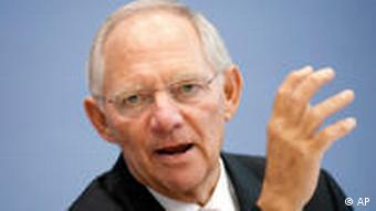 Wolfgang Schäuble, Bundesfinanzminister (Foto: AP)