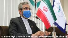 September 16, 2021, Tehran, Tehran, Iran: A handout picture made available by Iran's High Council for Human Rights on 15 September 2021 shows ALI BAGHERI KANI, the organization's deputy secretary, at its premises in the capital Tehran, Iran, 29 May 2021 (issued 15 September 2021). Iranian Foreign Minister Hossein Amir-Abdollahian on 15 September appointed Bagheri as the new deputy foreign minister and new chief nuclear negotiator, replacing Abbas Araqchi. (Credit Image: © Iran'S High Council For Human Ri via ZUMA Press Wire