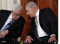 محمود عباس و  بنیامین نتانیاهو