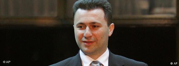 Mazedonischer Ministerpräsident Nikola Gruevski NO FLASH