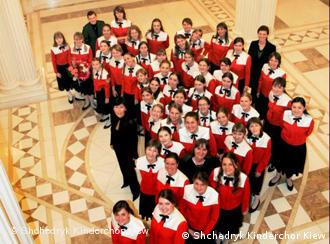 The members of the Shchedryk Children's Choir performed a work by Giya Kancheli at the Beethovenfest