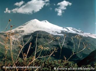 One of the world's seven summits, Elbrus has snow all year round