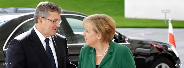 Angela Merkel Deutschland Polen Bronislaw Komorowski NO FLASH