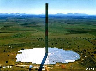 Reaching up to the sky - a prototype of the proposed solar station to be built in Mildura, Australia
