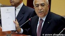 Palästinenser wollen eigenen Staat in zwei Jahren Fajad stellt Programm vor