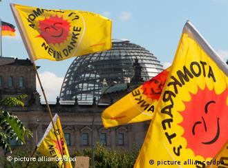 Protest flags in Berlin