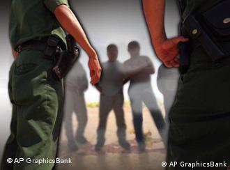 Asylum seekers and German policemen
