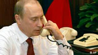 Wladimir Putin am Telefon 2005 Vladimir Putin Russland