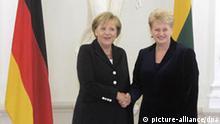 Litauen Merkel Grybauskaite