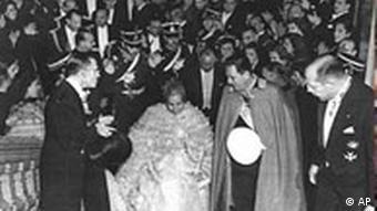 Argentinien: Juan Peron und seine Ehefrau Eva Peron, Unabhängigkeitstag