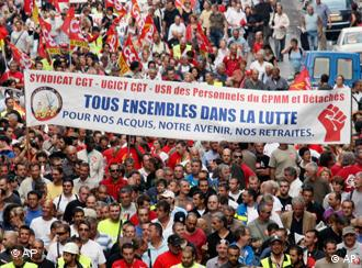 A mass protest in the southern city of Marseille.