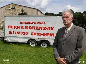 Rev. Terry Jones at the Dove World Outreach Center in Gainesville, Florida, plans to burn copies of the Koran on church grounds to mark the Sept. 11, 2001, terrorist attacks