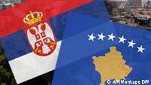 Montage Serbien und Kosovo Symbolbild