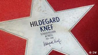 Stern von Hildegard Knef, Boulevard der Stars, Potsdamer Platz in Berlin (Foto: Nadine Wojcik / DW)