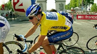 Tour de France Sieger Lance Armstrong in Paris 2002