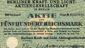 Weimarer Republik Wertpapier Reichsmark
