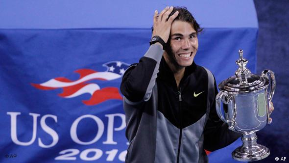 Rafael Nadal siegt bei den US Open in New York Flash-Galerie