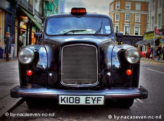 Taxi cabs in London