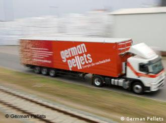 Ein Lkw der Firma German Pellets (Foto: German Pellets)
