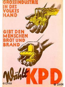 KPD Wahlplakat in den Besatzungszonen
