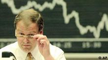 Börse Frankfurt DAX Tafel Börsenkurs fallend