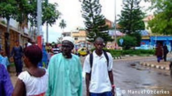 Uma imagem de Banjul, capital da Gâmbia