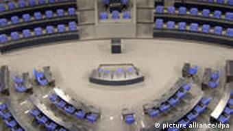 A bird's eye view of the Bundestag in Berlin