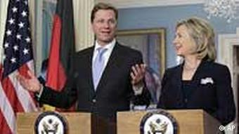 Westerwelle bei Clinton in USA