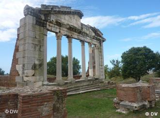 Der archäologische Parl Apollonia in Südalbanien (Foto: DW)