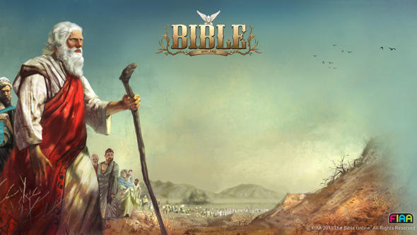 A poster from the game shows Abraham in an epic pose