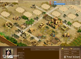 A screenshot of the game shows a village that the player must oversee