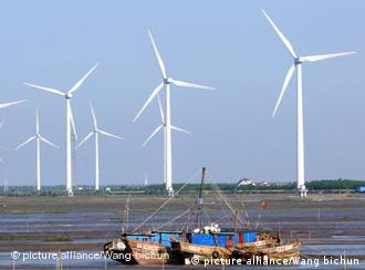 A wind farm in Rudong, Jiangsu, east China. The CDM has played a big role in expanding Chinese wind power.