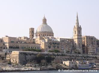 Skyline of Valletta harbor